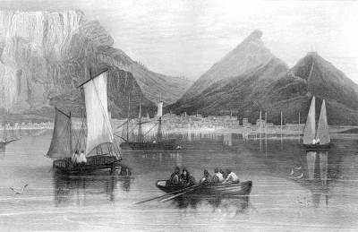 A beautifully moody sketch of Cape Town in 1834. Philidelphia NA Bible Institute.