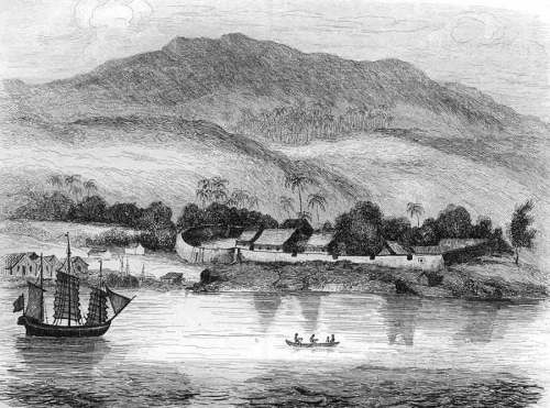 Dutch fort at Coupang (Kupang) in West Timor c.1834.