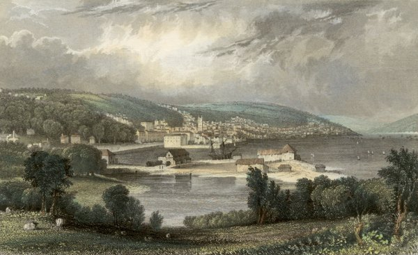 Tom Allom, Falmouth in Cornwall c. 1832
