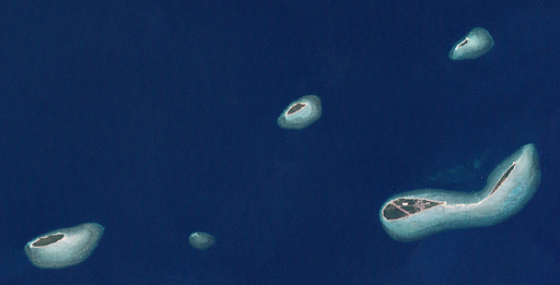 NASA satellite photo of the Yorke islands in the Torres Strait