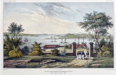 Sydney view from the Rocks, c. 1830s.