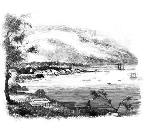 Amboyna in 1834. Original artwork by M. de Sainson.