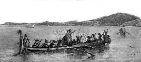 Canoes at Bikar Bay c.1943.