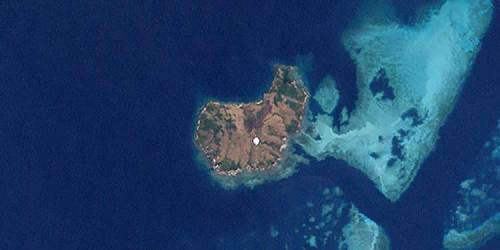 Satellite photo of Erub, Torres Strait