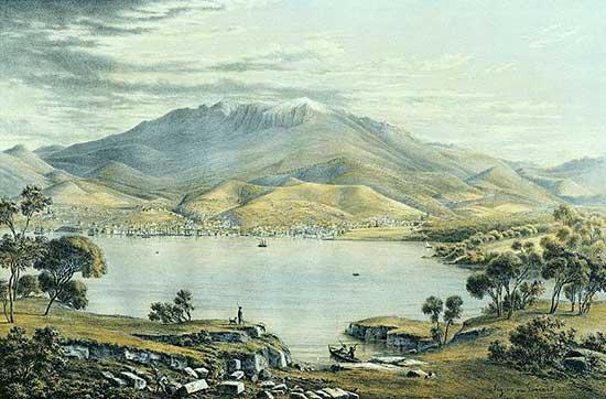 Eugene von Guérard, Hobart Town c.1860s.