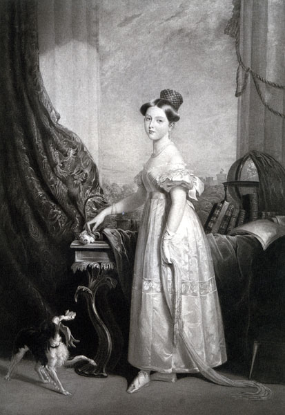 Princess Victoria (later Queen Victoria) aged 16.