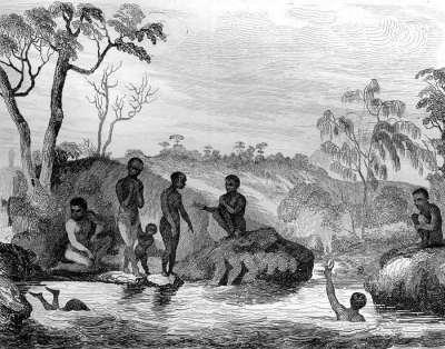 Aboriginal family.