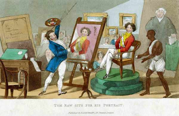 Tom-Raw Sits for His Portrait Sir Charles D'Oyly