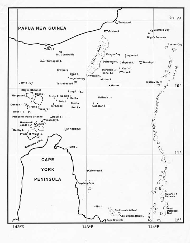 Torres Strait Expedition Map of The Torres Strait