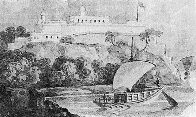 Chunar fort c. 1820s by Sir Charles D'Oyly