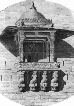 Chunar Fort, window of Muslim palace by T. D'Oyly