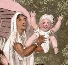 The D'Oyly family's ayah was a young girl like this one, free to travel. Artist: Sir Charles D'Oyly.