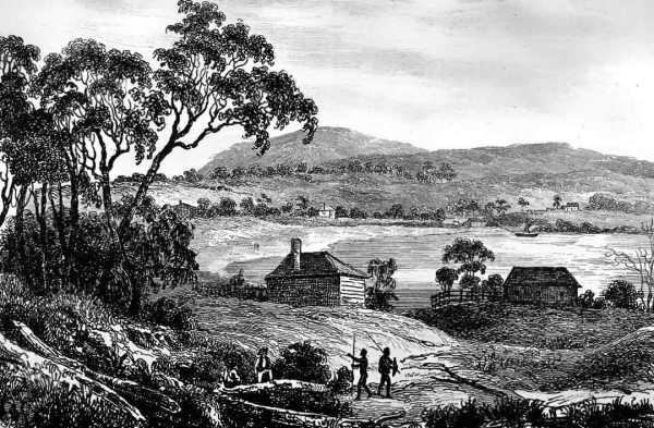 Settler's cottage near Sydney. Artist: M. de Sainson.